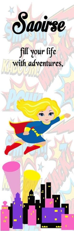 Blonde Hair Superhero Girl Bookmark