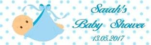 Blue Baby in Blanket Baby Shower Chocolate Bar Wrapper