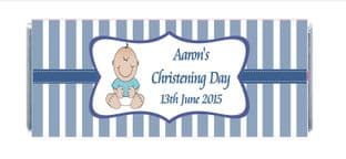 Boy Christening Chocolate Candy Bar Wrapper Design 2