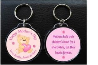 Circle Mother's Day Keyring