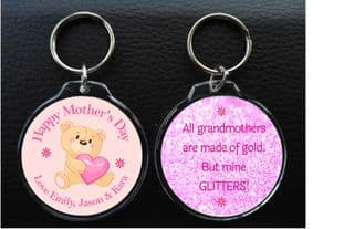 Circle Mother's Day Keyring for Grandmother