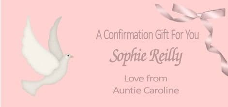 Confirmation Gift Wallet Pink Dove Design