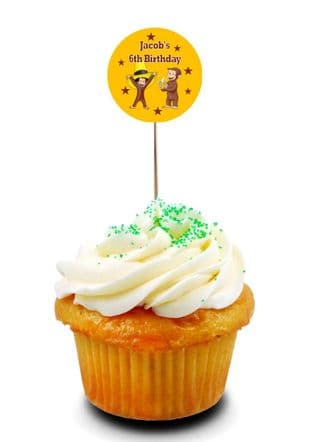 Curious George Cupcake Picks/Toppers