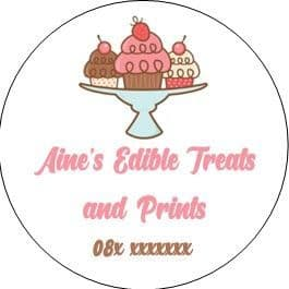 Custom Sticker for Aine's Edible Treats & Prints