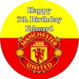 Personalised Manchester United Cake Topper