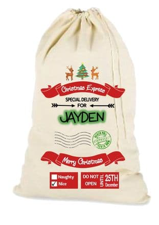 Express Delivery Christmas Santa Gift Sack