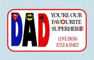 Father's Day Chocolate Bar Wrapper Design 1