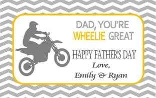 Father's Day Chocolate Bar Wrapper Design 2