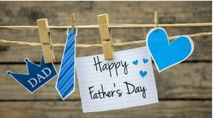 Father's Day Sticker Design Rectangle 2