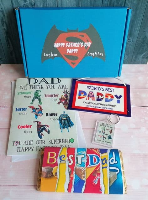 Father's Day Superhero Themed Gift Box