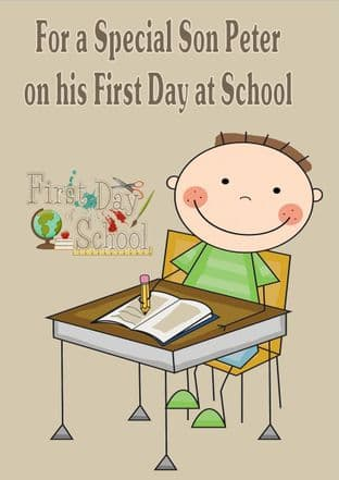 First Day at School Card Design 3