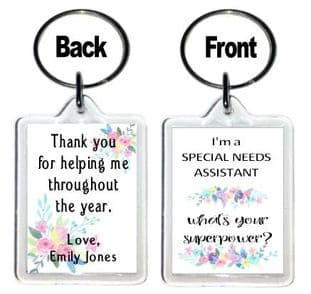 Floral Special Needs Assistant Keyring