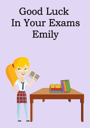 Good Luck Exams Card Design 10