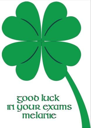 Good Luck Exams Card Design 11
