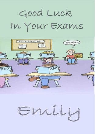 Good Luck Exams Card Design 2