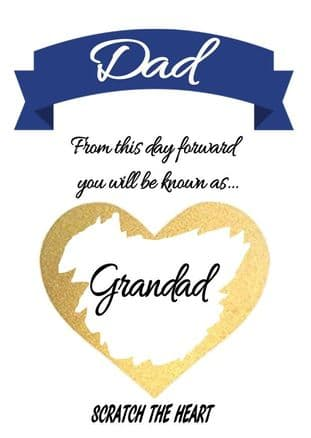 Grandfather pregnancy reveal card