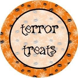 Halloween Background Cupcake Toppers 1