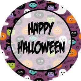 Halloween Background Cupcake Toppers 3