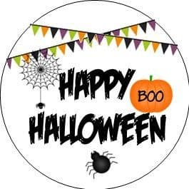 Halloween Bunting Cupcake Toppers
