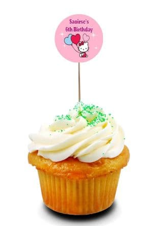 Hello Kitty Cupcake Picks/Toppers