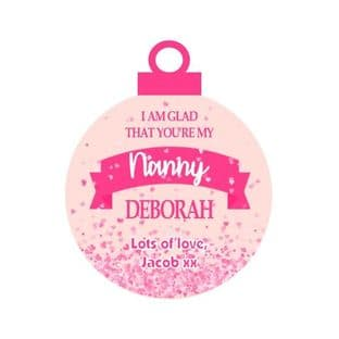 I'm glad that you're my ... Pink Acrylic Christmas Ornament Decoration