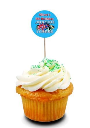Justice League Cupcake Picks/Toppers