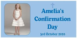 Large Blue Photo Confirmation Banner