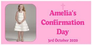 Large Pink Photo Confirmation Banner