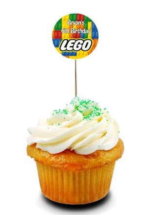 Lego Cupcake Picks/Toppers