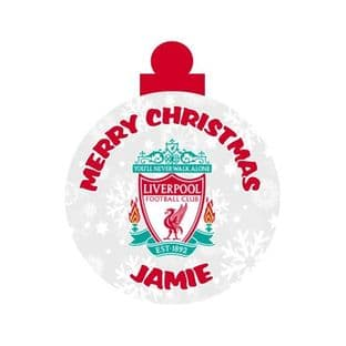 Liverpool FC Acrylic Christmas Ornament Decoration