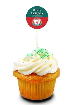 Liverpool FC Cupcake Picks/Toppers