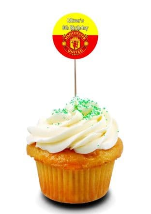 Manchester United Cupcake Picks/Toppers
