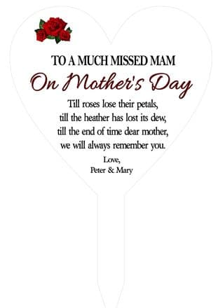 Memorial Grave Decoration Roses Mother's Day Design