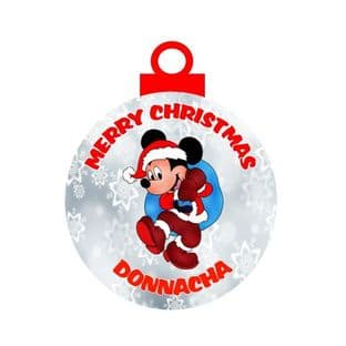 Mickey Mouse Acrylic Christmas Ornament Decoration