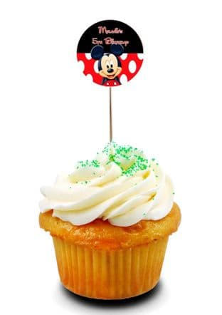 Mickey Mouse Cupcake Picks/Toppers