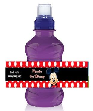 Mickey Mouse Red Bottle Label Wrapper.