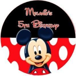 Mickey Mouse Red Stickers.