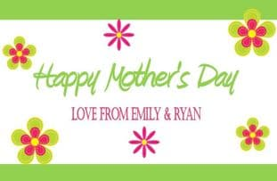 Mother's Day Chocolate Bar Wrapper Design 1