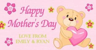 Mother's Day Chocolate Bar Wrapper Design 6