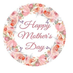 Mother's Day Floral Border Sticker