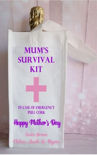 Mother's Day Survival Kit Bottle Bag