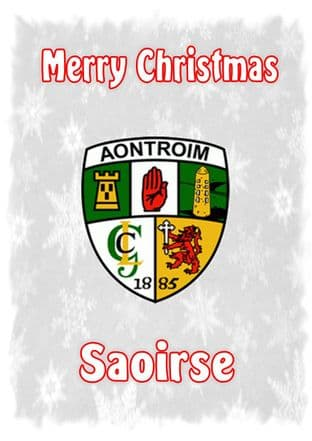 Personalised Antrim Crest Christmas Card