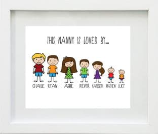 Personalised 'Any Relative is loved by' Family Print