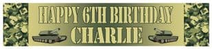 Personalised Army Theme Banner