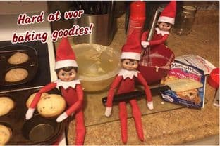 Personalised Baking Postcard from your family Elf - THREE ELVES