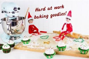 Personalised Baking Postcard from your family Elf - TWO ELVES