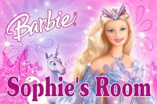 Personalised Barbie Door Plaque