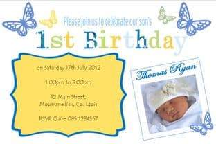 Personalised Birthday Photo Invitation - Boy Design 11
