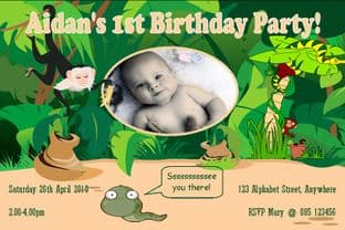 Personalised Birthday Photo Invitations - Boy Design 7