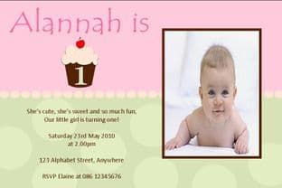 Personalised Birthday Photo Invitations - Girl Design 11